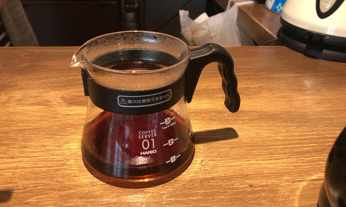 人生初の自分で淹れたコーヒーが完成しました