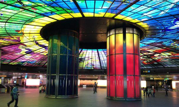 台湾の高雄にある世界2位の美しい駅「美麗島駅」に行ってみた