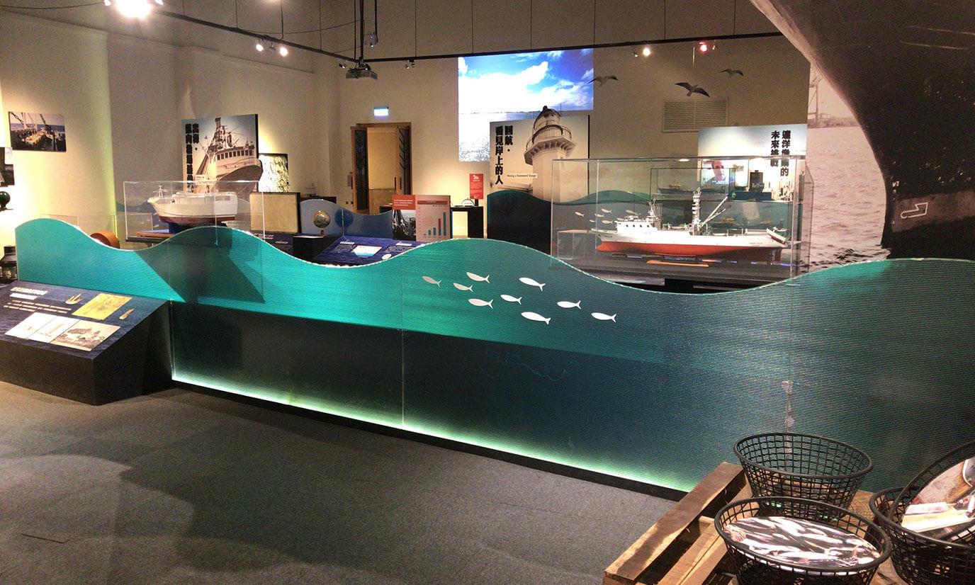 高雄は港町なので漁業や船に関する歴史を説明している展示部屋が多いです