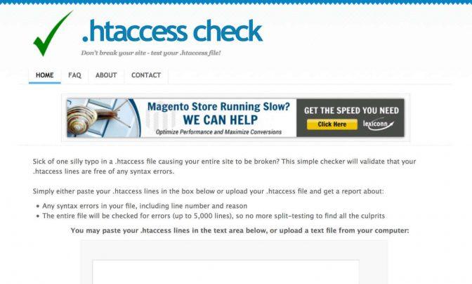 .htaccessの文法チェックをしてくれるツール1選
