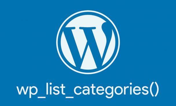 wp_list_categoriesで色々なカスタマイズをしてみた