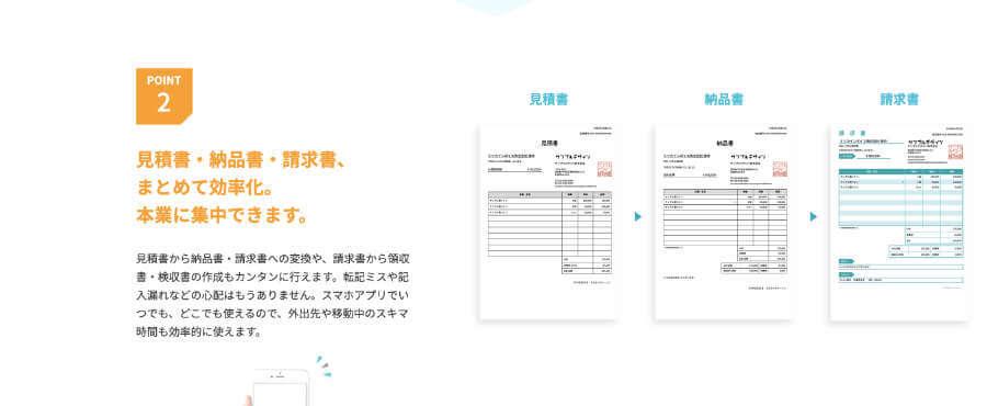 見積書・納品書・請求書の管理を一本化